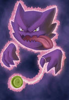 Draw me a Pokemon - Haunter by recycled-batteries