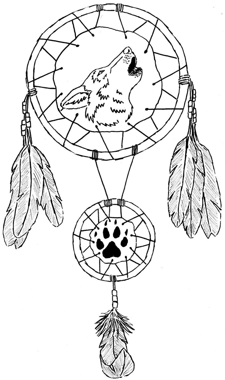 Dreamcatcher Wolf Tattoo by MiasaurusRex90 on DeviantArt