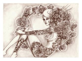 -- wild orchid -- by jadedice