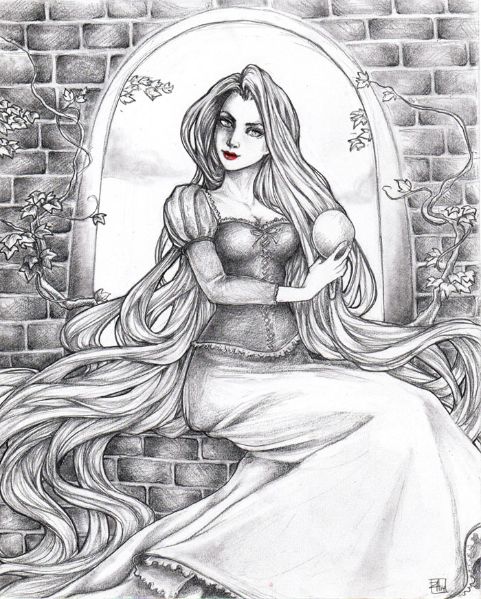 -- rapunzel, rapunzel, let down your hair -- by jadedice