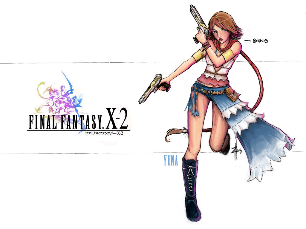 ffx-2: yuna wallpaper --jadedice on deviantart