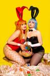 Asuka and Rei Cute Bunnys