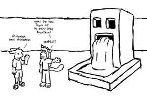 Minecraft: Lava Fountain by Chaz-GELF