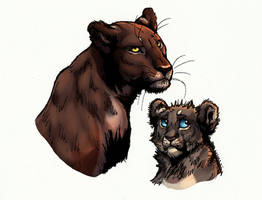 Mother and kid by Esava
