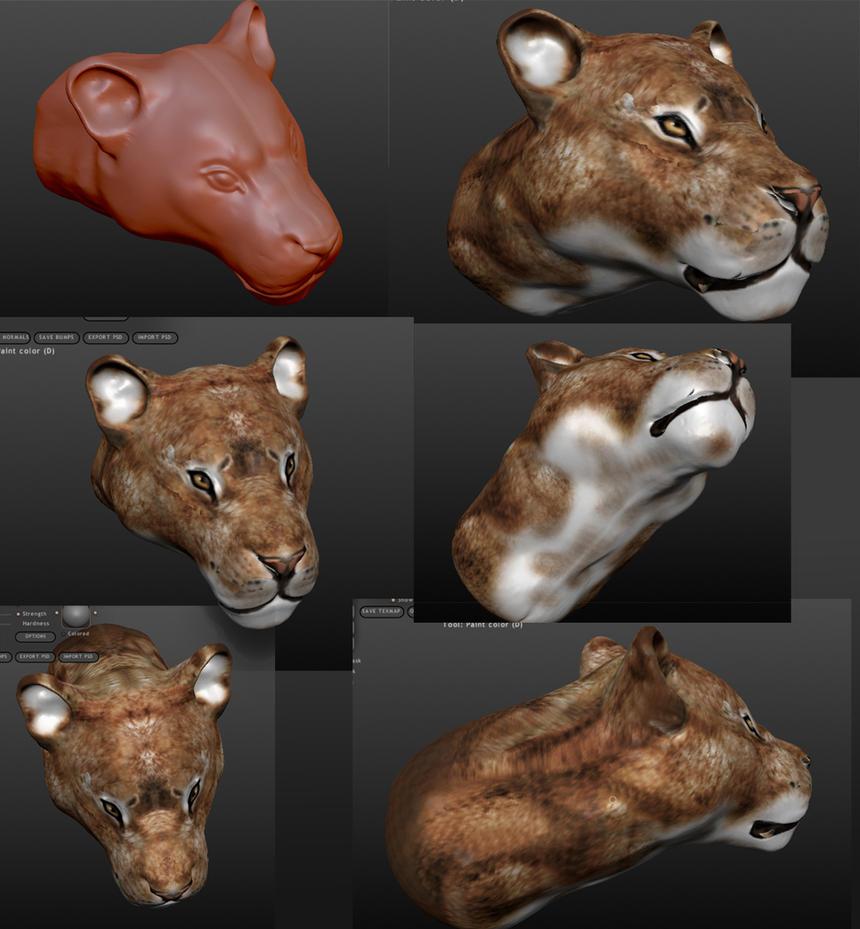 Sculptris Tutorials > Using Sculptris > Painting with textures and ...