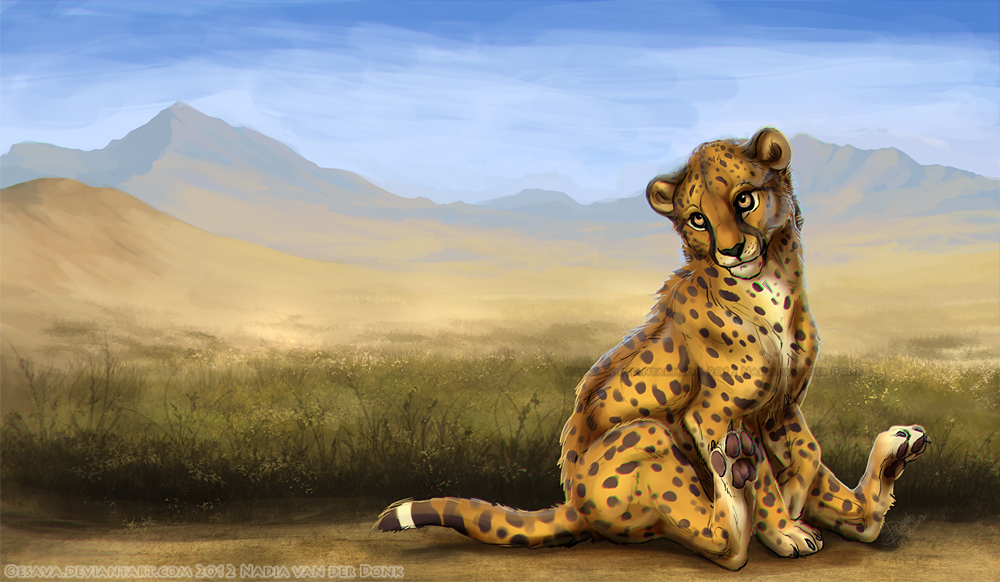 Cheetah Friend by Esava