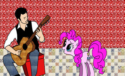 Santos Playing Music by Tinytoon70