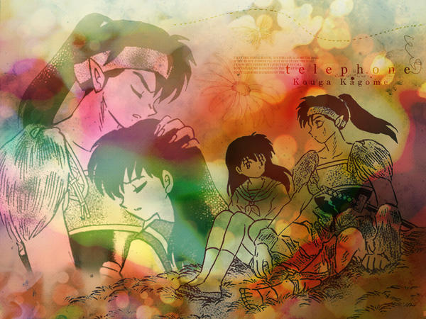Kouga x Kagome Wallpaper by Kouga-x-Kagome-Club