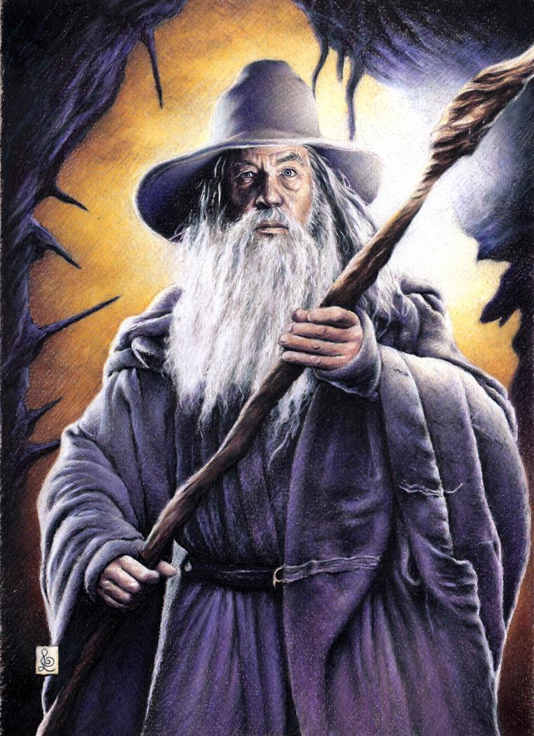 Ian Mckellen as Gandalf the Grey by louissollune