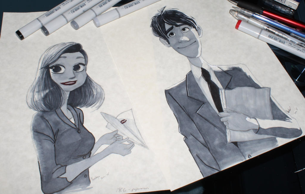 [f.a.] paperman by mudnoseandleafstorm