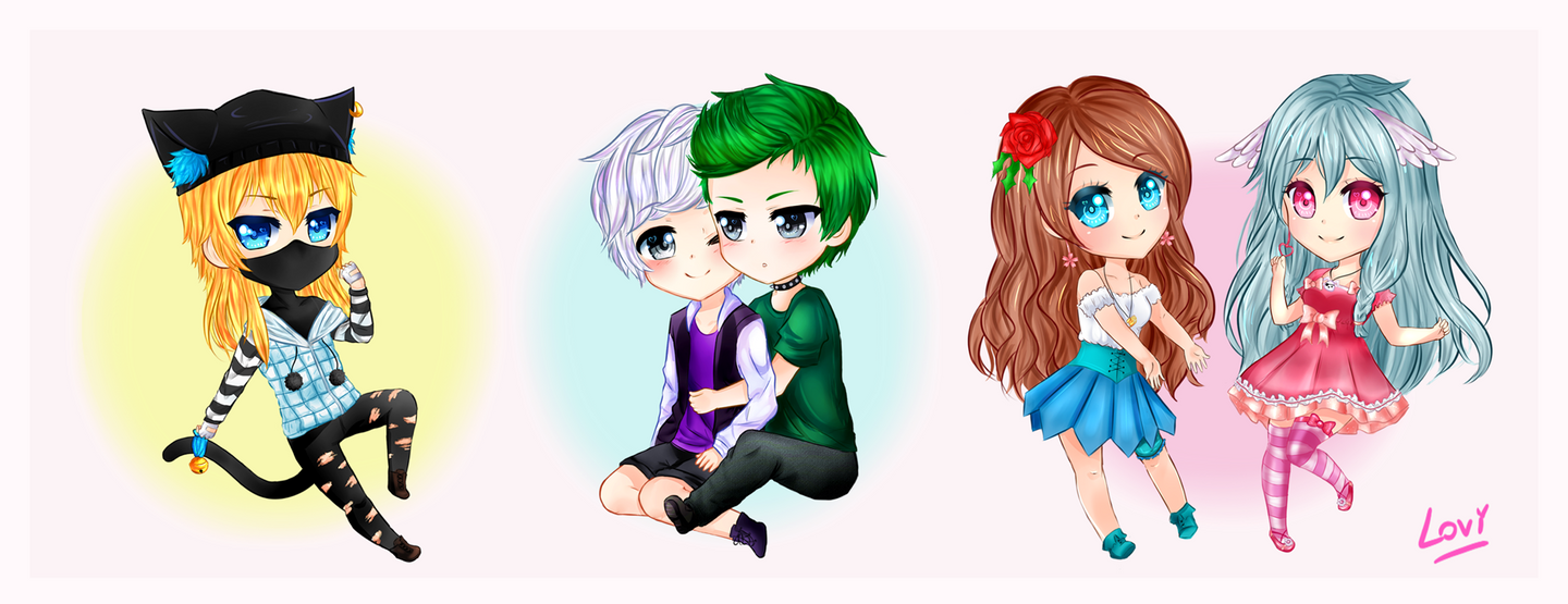 Chibis OCs by SweetLovi on DeviantArt