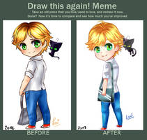 Adrien and Plagg by SweetLovi