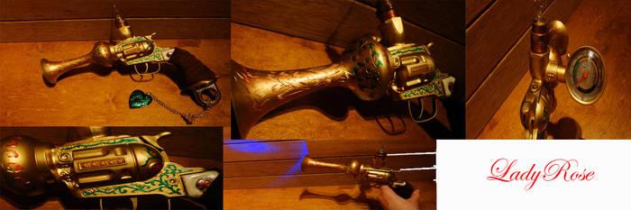 LadyRose Steampunk Gun by UniqueWorldWorks