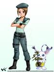 Kari Jill Valentine Cosplay with Gatomon