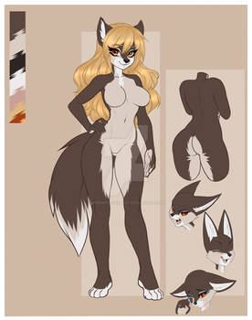 Amber, a cute female wolf.