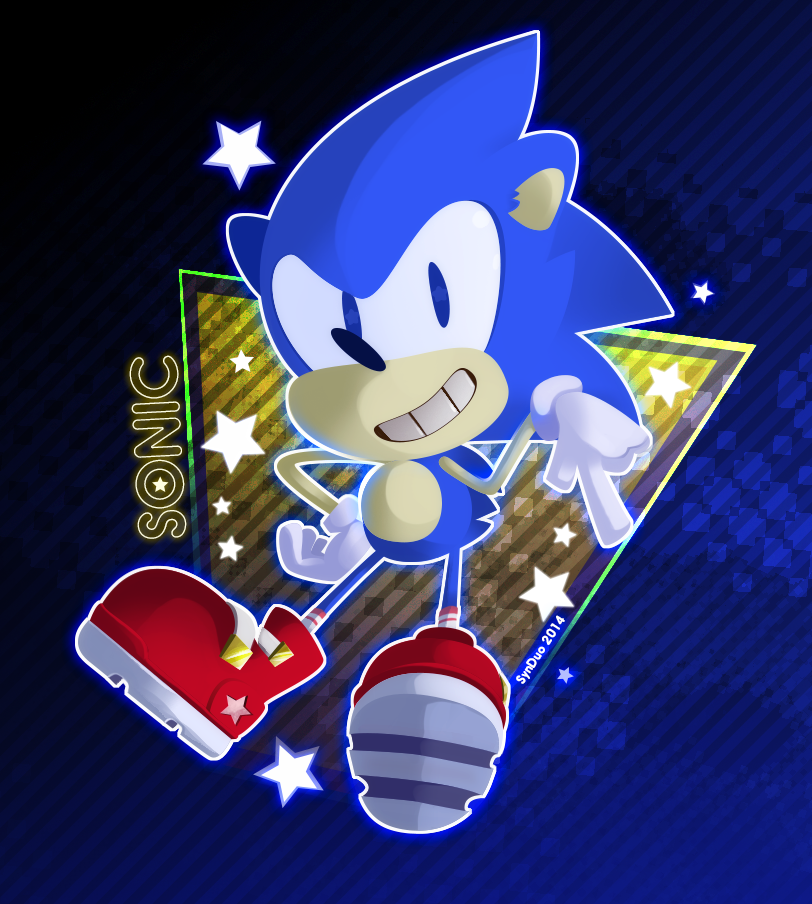 80s styled Sonic by SynDuo