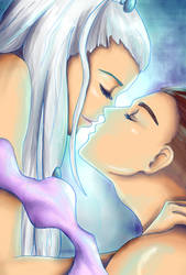 Sokka and Yue by NoTickleElmo