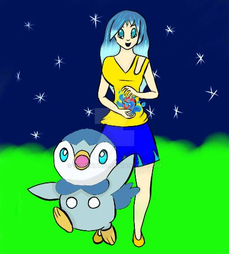 Hikari and Piplup by YumeNina55