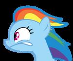 Rainbow Dash looking Left.