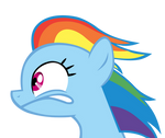 Rainbow Dash looking Left.