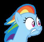 Rainbow Dash looking Right