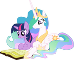 Twilight and Celestia Reading - Season 2 Poster