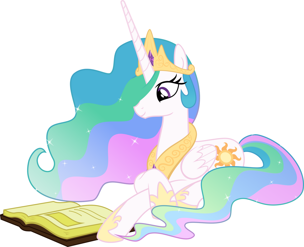 Princess Celestia Reading - Season 2 Poster