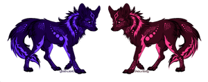 Tribal Twins Canines Adoptables-(CLOSED)