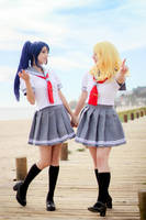 Kanan and Mari by Yotsuba-sama