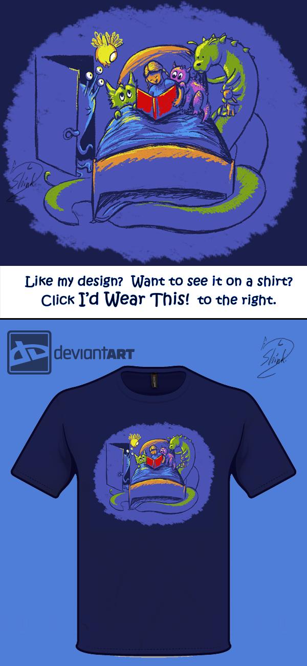 T-shirt design: Bedtime Story