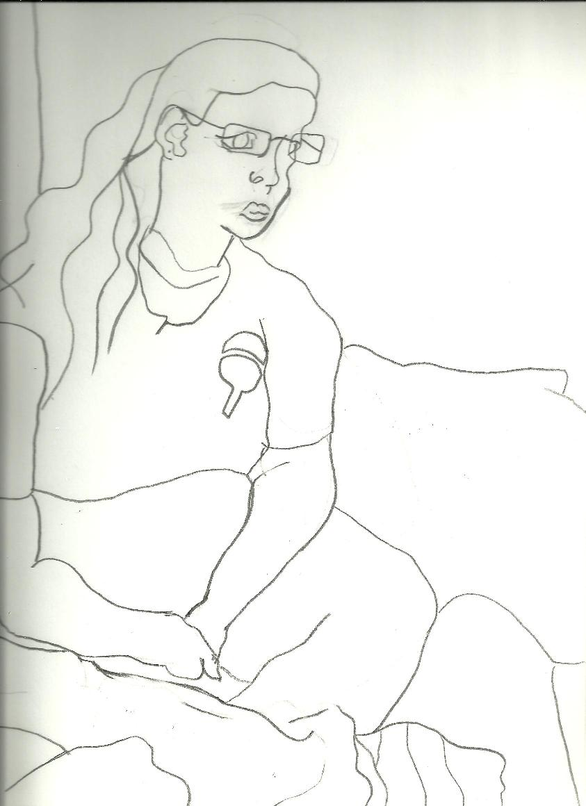 Contour Line Drawing Person : Blind contour line sketch by gothchick on deviantart