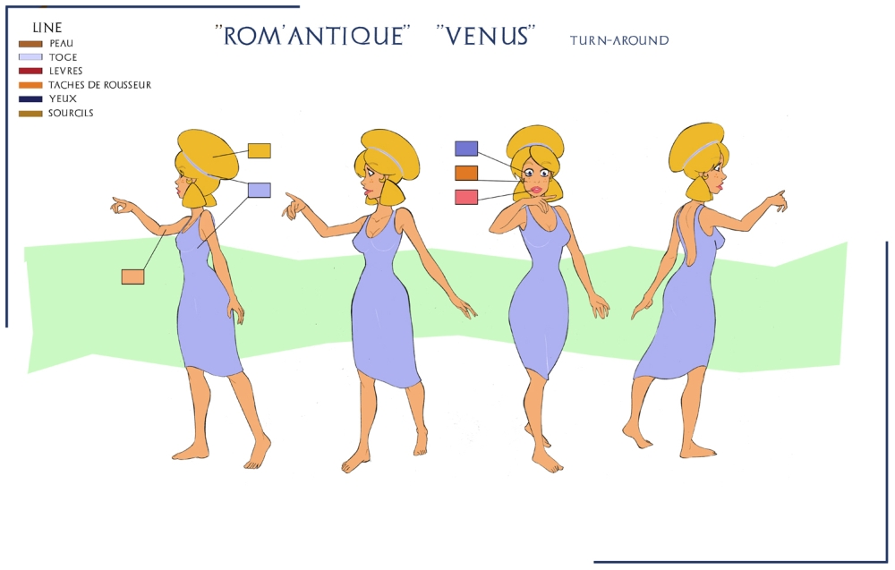 Venus Model-sheet by Sedjin