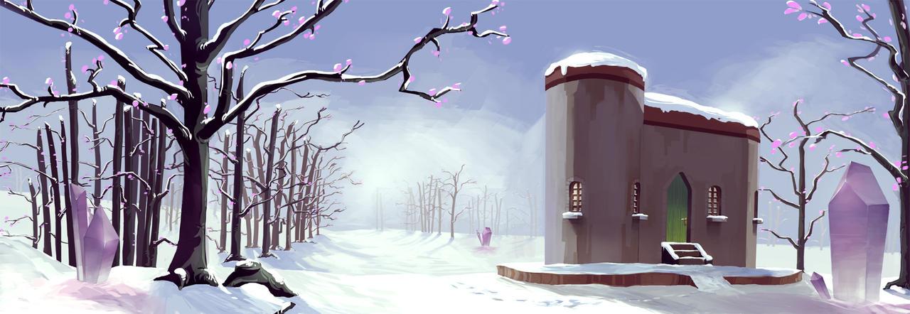 Snowy Landscape by Sedjin