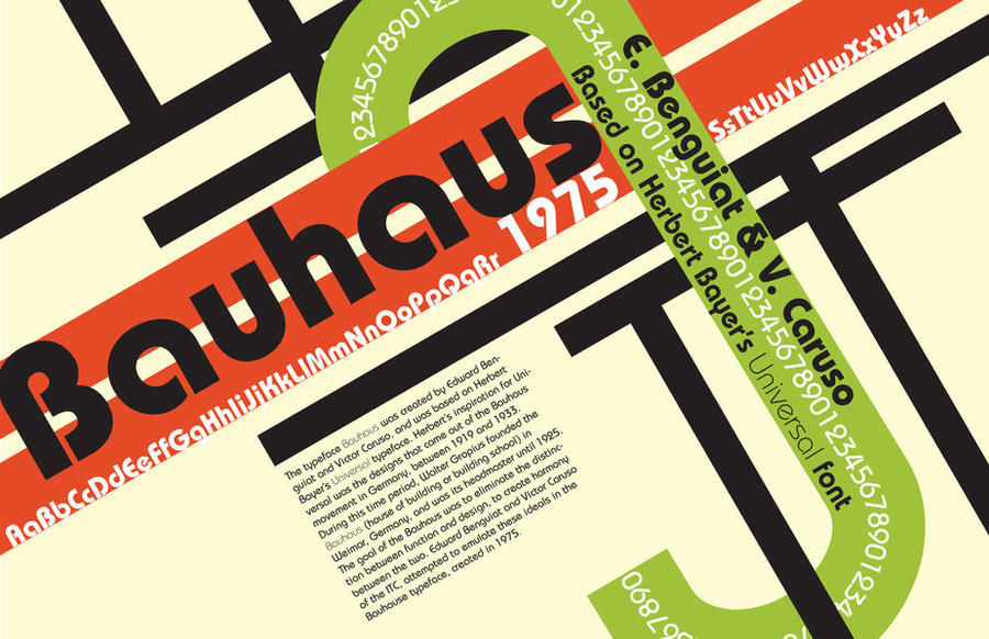 Bauhause typeface poster by Caet I Love Typography #6: The Ultimate Source of Text Art Inspiration