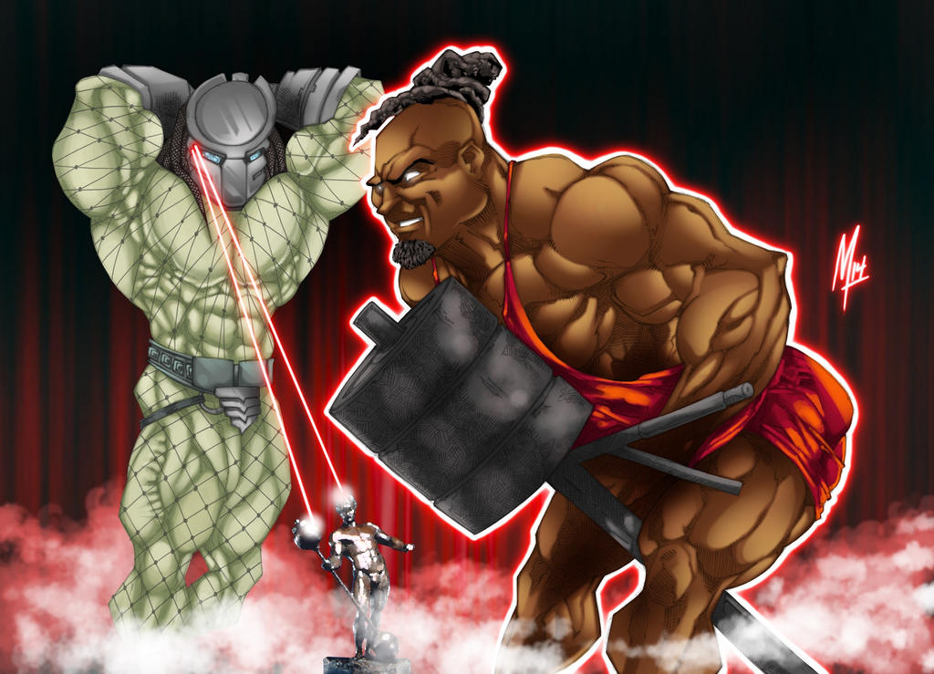 Kai the predator by bigmuscledesign on deviantart for Kai greene painting