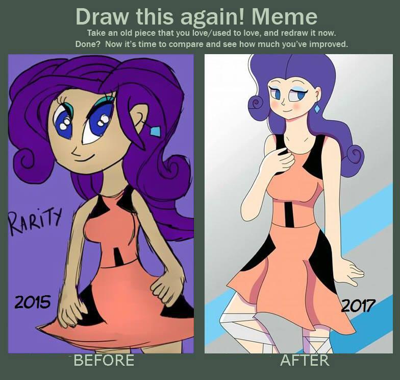 Draw this again/ Meme : Rarity (2015-2017) by JaimeKingdomHearts