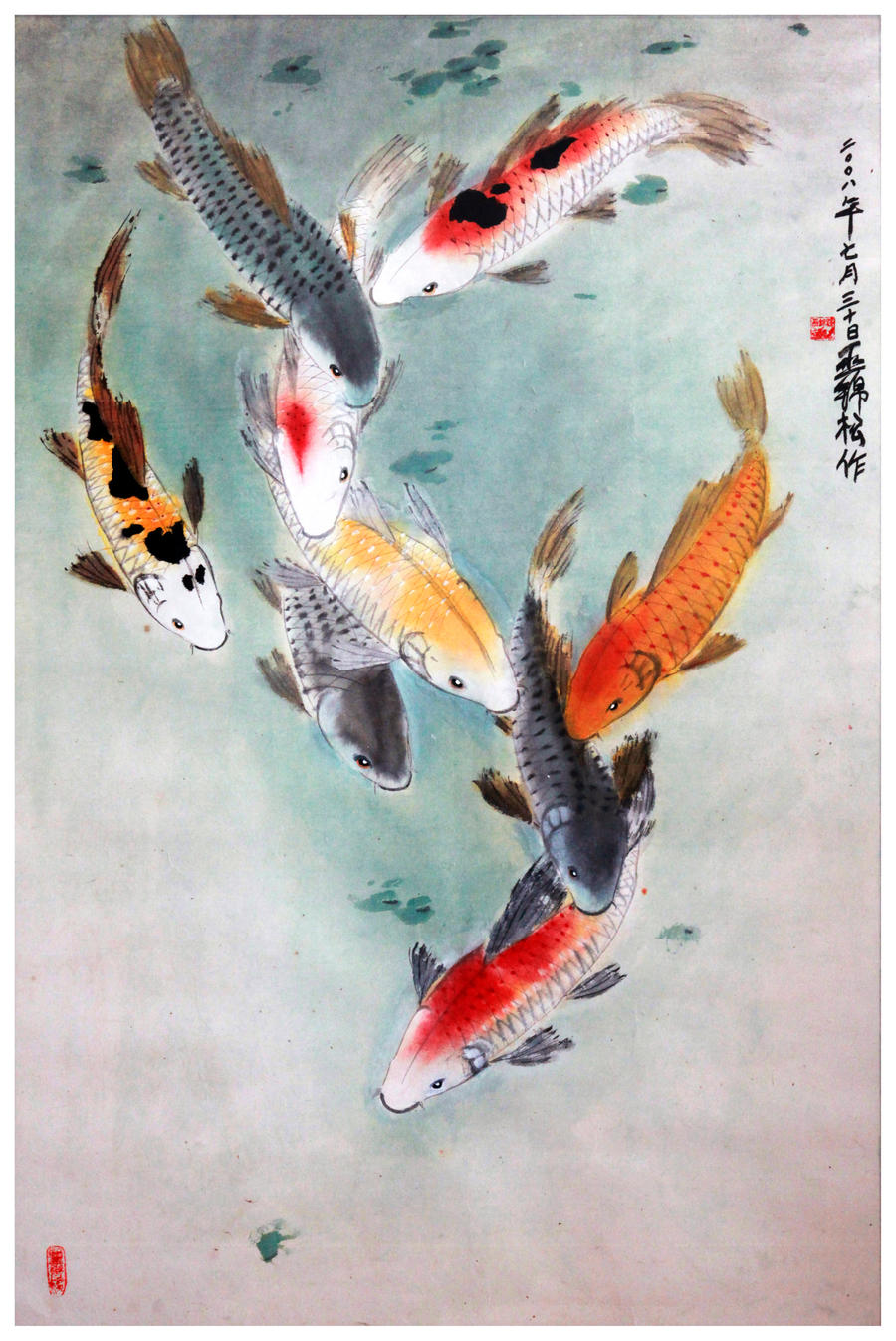 eight japanese koi by tboonip1 on deviantart