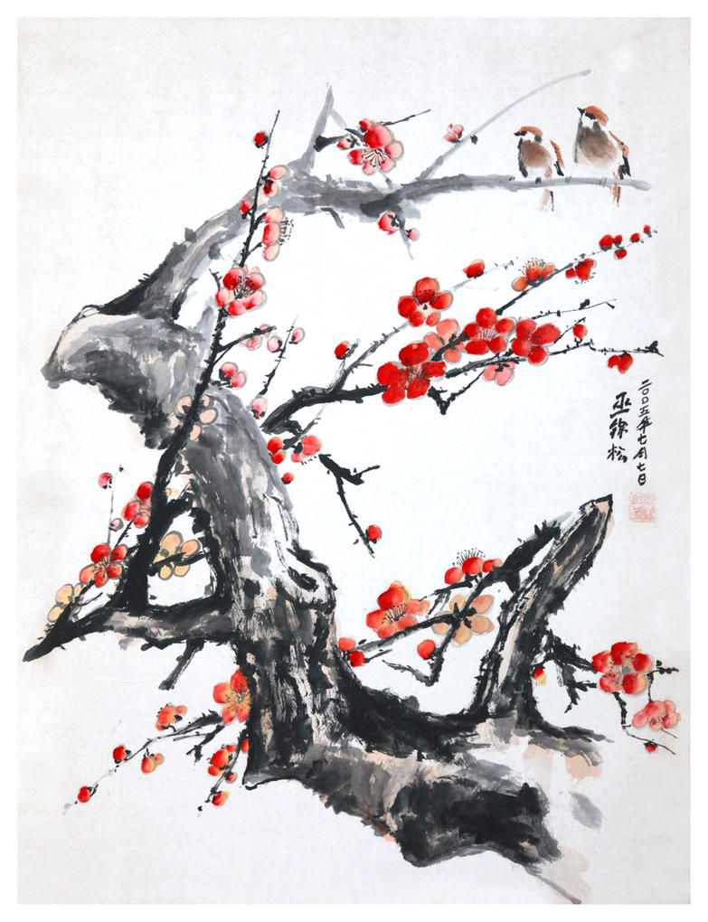 Pictures Of Chinese Flowers Drawings Easy Rock Cafe