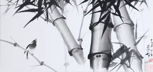 Bamboo with bird