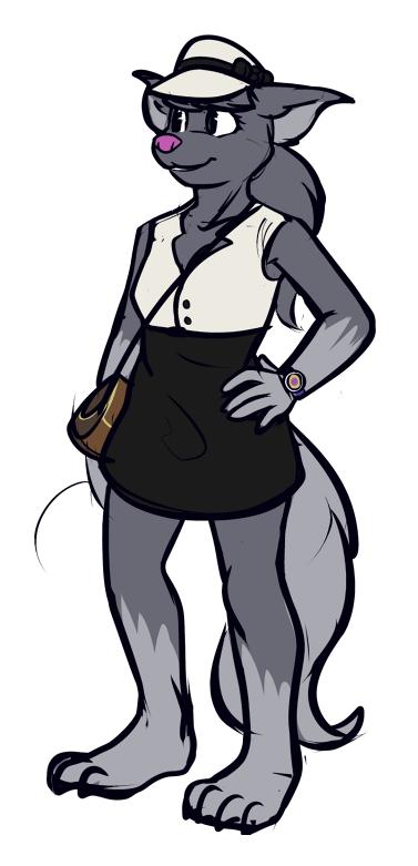 furry lady in a cute dress standing in a void by WORLDSBIGGESTTRUCK
