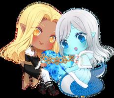 Sierra and Zoe by Rumcandyadopt