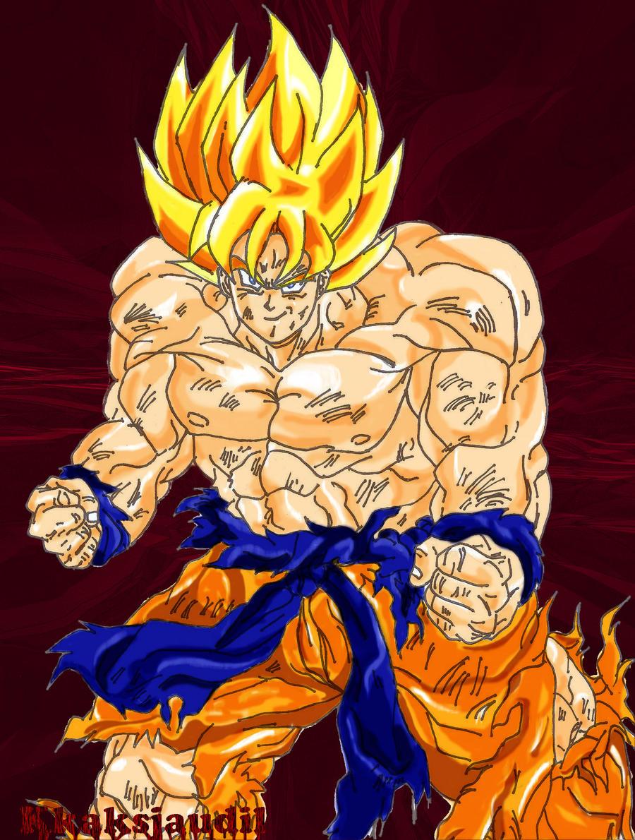 Super Saiyan Goku - Namek by kkaksjaudil on DeviantArt