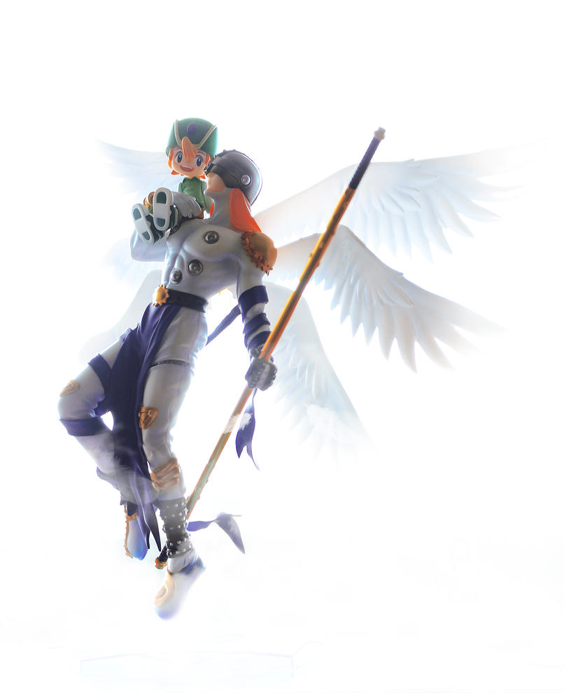 Angemon and TK by Uchiha-Joey
