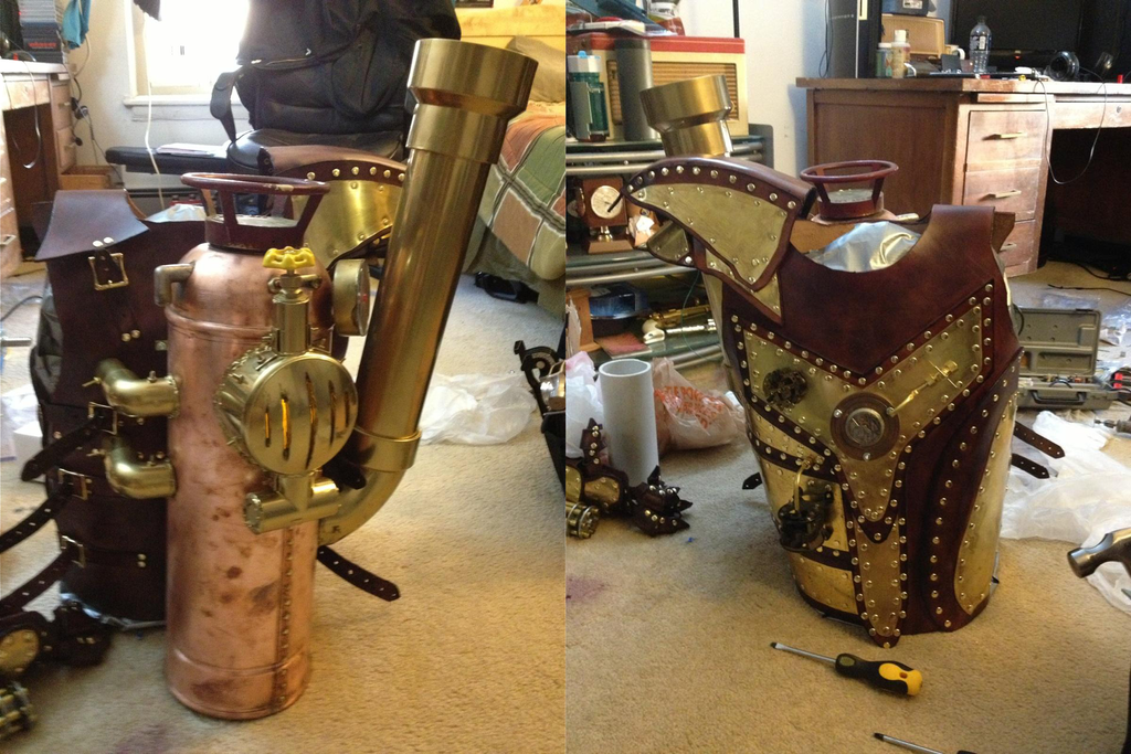 My completed Steampunk torso power armor by NickHawke on ...