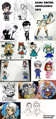 Anime Boston Commissions 2013