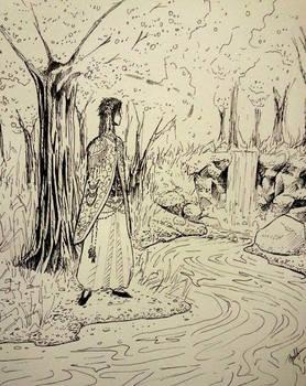 Marth by a stream