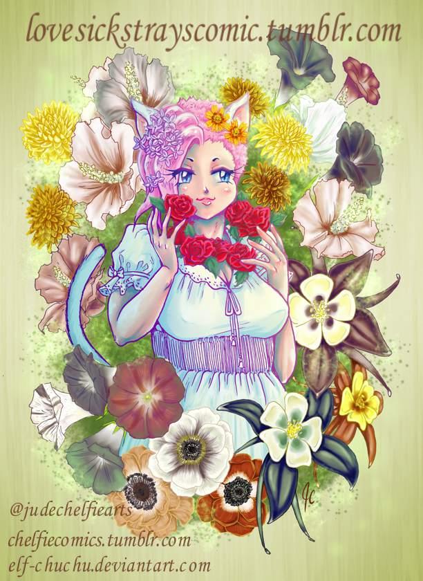 Hina Floral Portrait by Elf-chuchu