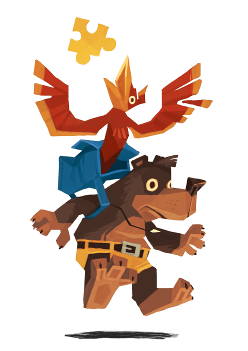 Bear Backpack Bird by Ungapants