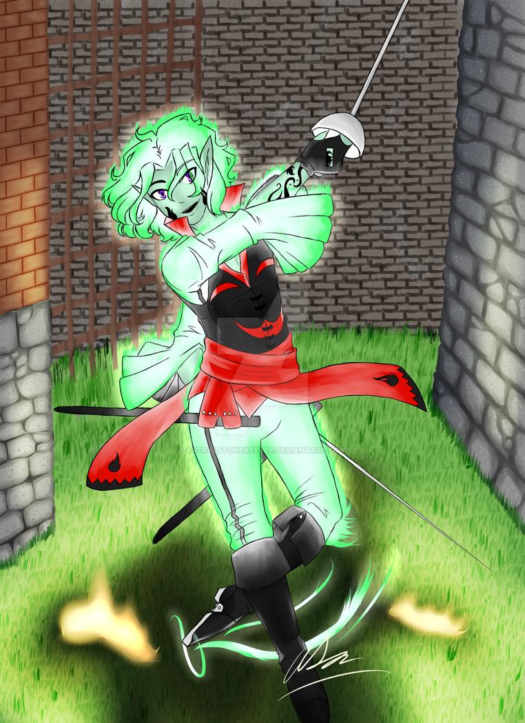 -Emerald Dancer- by Astralstonekeeper