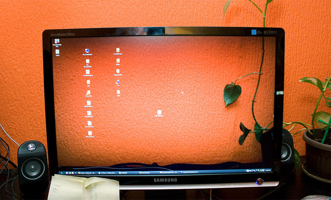 desktop at work by sniperyu